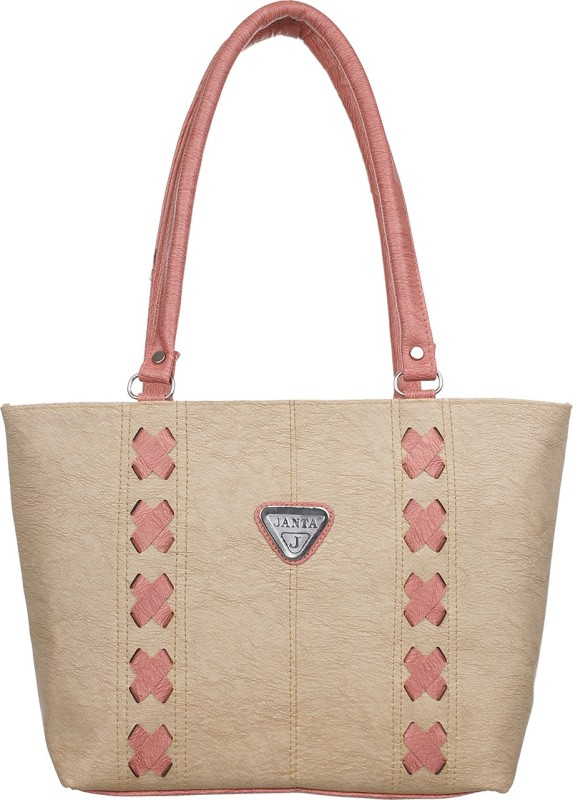 Janata Women Beige Shoulder Bag