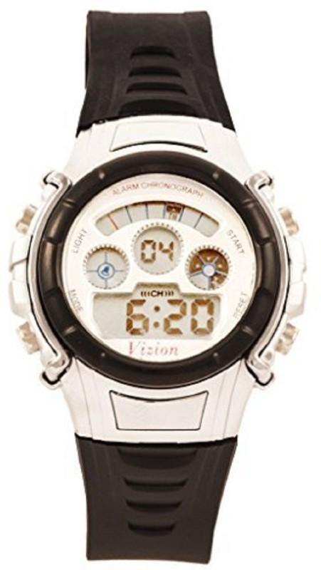 Vizion 8516B-5Black Sports Series Digital Watch - For Boys & Girls