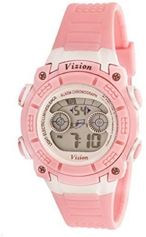 Vizion V8017B-3(Pink) Sports series Digital Watch - For Boys
