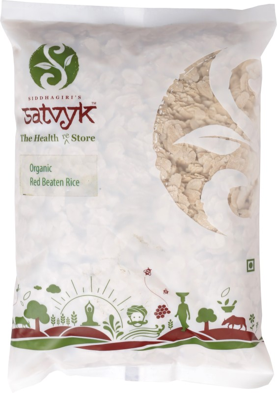 Satvyk Organic Red Rice Poha 500g - Set of 03 (1.5 kg)(500 g, Pouch, Pack of 3)
