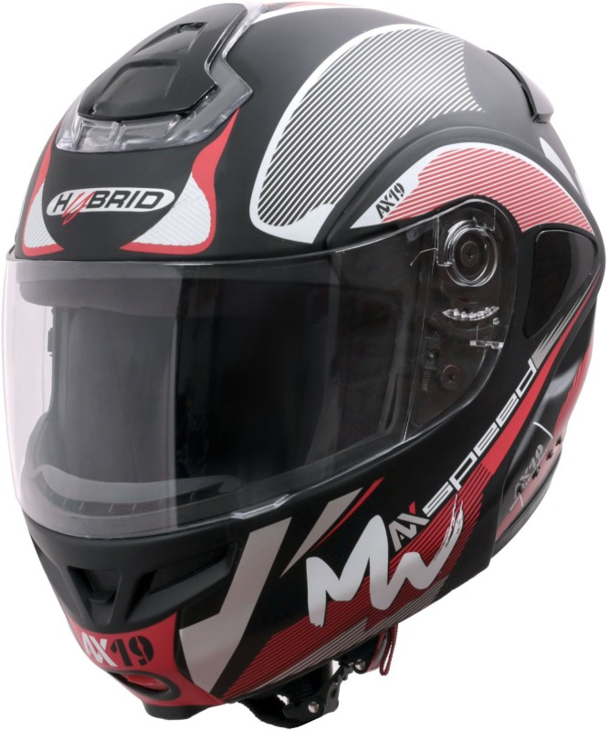 HEADFOX Bluetooth Smart Motorsports Helmet(Red&Black)