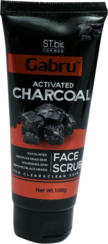 st.bir GABRU ACTIVATED CHARCOAL FACE SCRUB FOR CLEAR & CLEAN SKIN Scrub(100 g)