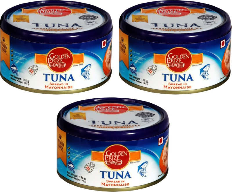 Golden Prize Tuna Spread in Mayonnaise 185Gms Each - Pack of 3 Units Sea Foods(185 g, Pack of 3)