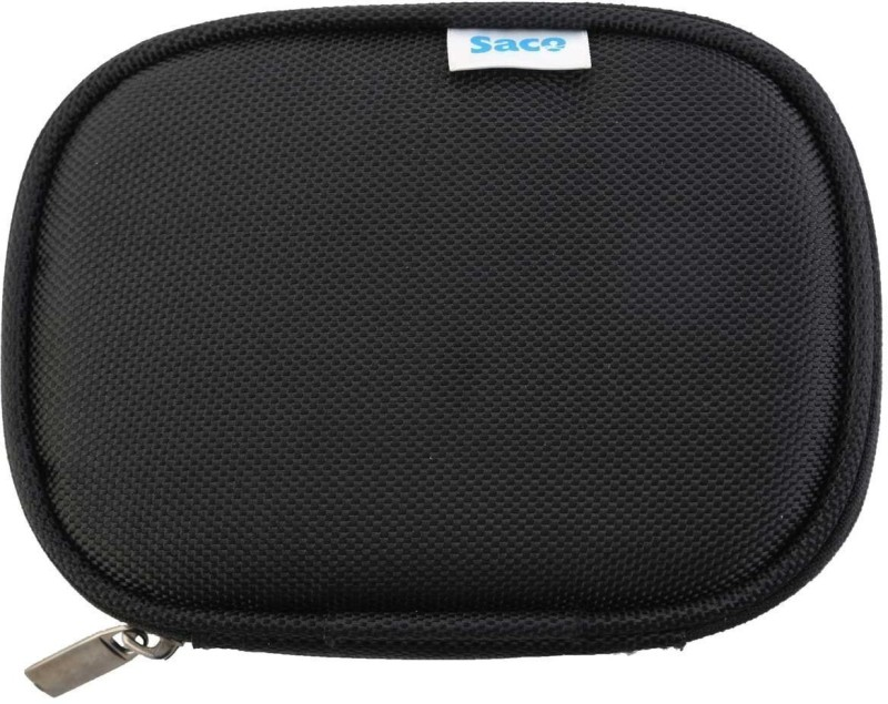 Saco Superfit HDD-Black05 4.5 inch External Hard Drive Enclosure(For FreecomTough500GBExternalHardDisk,(CasingCaseCoverEnclosureBagSleevewallet)(Black), Black)