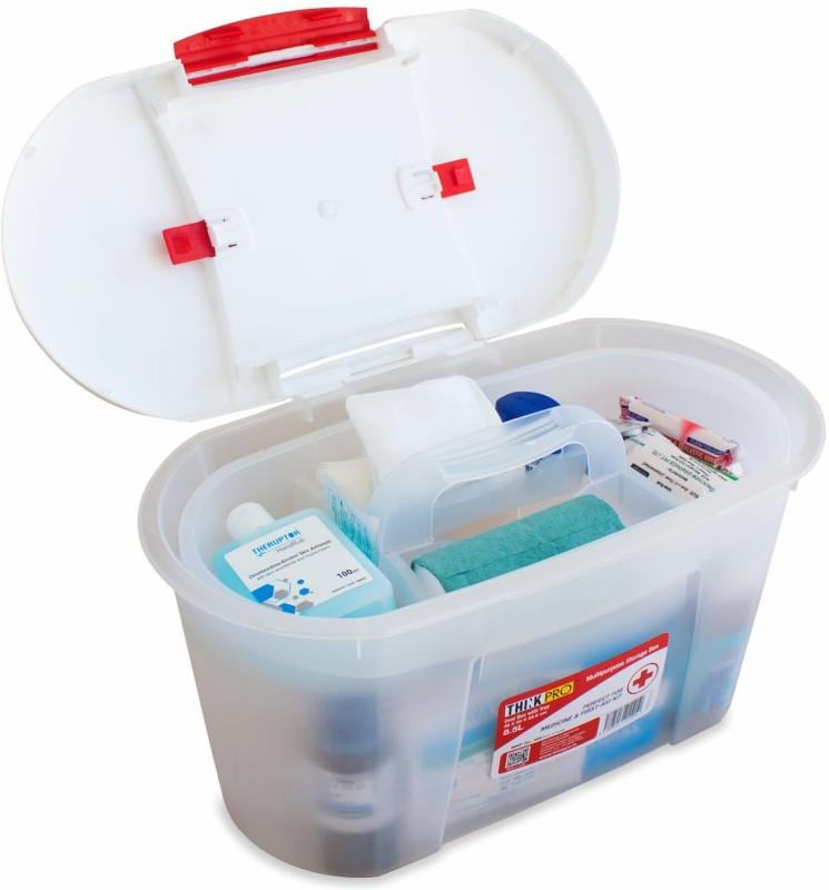 Thinkpro Plastic Medical box - 8.5 L - 8.5 L Plastic Utility Box(White, Red)