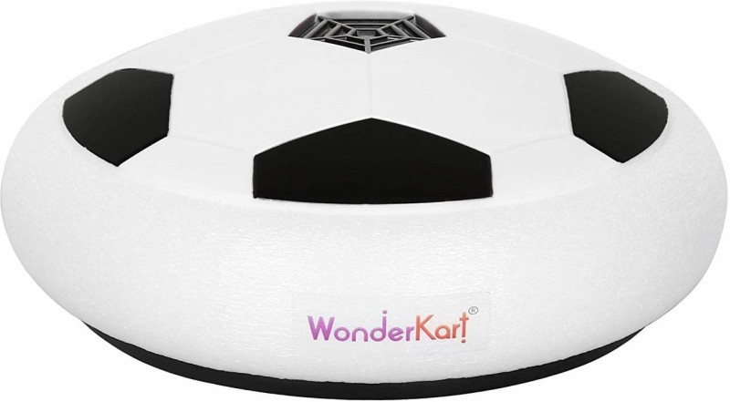 WonderKart Indoor and Outdoor Hover Soccer Ball with LED Lights for Kids Football Foul Card