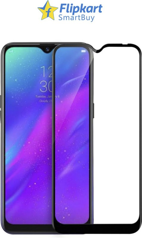 Flipkart SmartBuy Edge To Edge Tempered Glass for Realme 3, Realme 3i(Pack of 1)