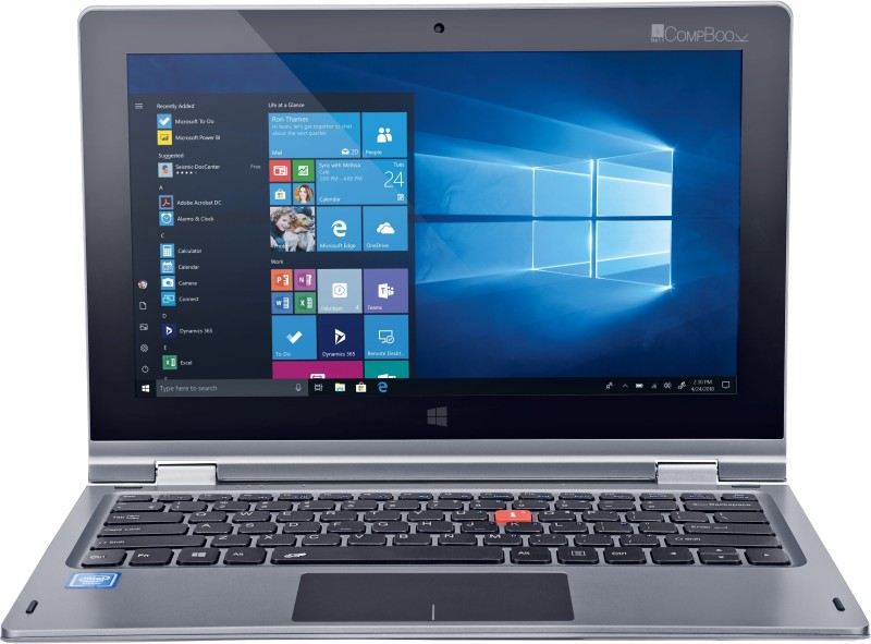 iBall CompBook Atom Quad Core - (2 GB/32 GB EMMC Storage/Windows 10 Home) I360 Laptop(11.6 inch, Star Grey, 1.35 kg)