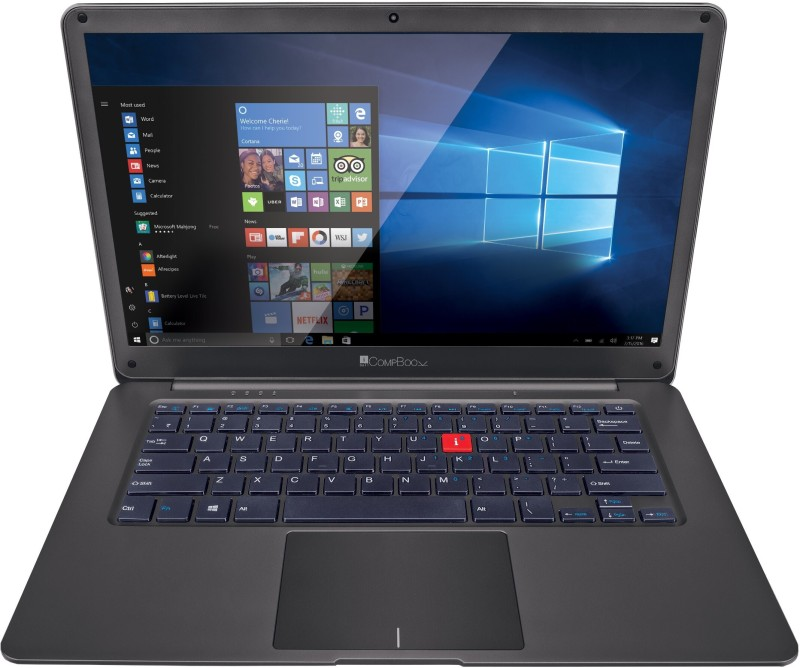 iBall CompBook Pentium Quad Core - (4 GB/500 GB HDD/32 GB EMMC Storage/Windows 10 Home) Premio v3.0 Laptop(14 inch, Gun Mustard, 1.30 kg)