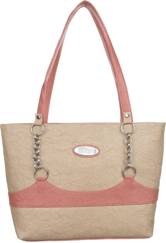 Janata Women Pink, Beige Shoulder Bag