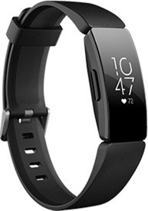Fitbit Inspire HR(Black Strap, Size : Regular)