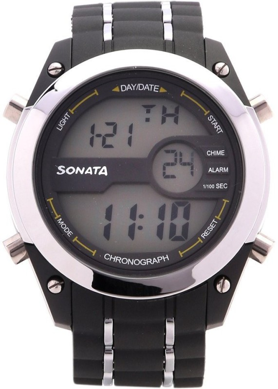 Sonata NH77034PP01 Digital Watch - For Men