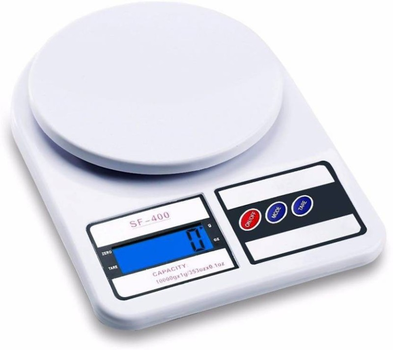 Zelenor Kitchen SF400 1g-10kg Chef-Mate Kitchen Scale Weighing Scale(White)
