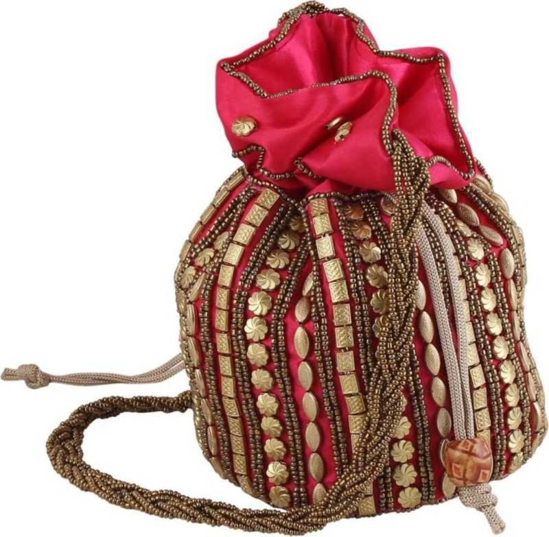Zeleen Rajasthani Jaipuri potli Potli(Multicolor, Red)