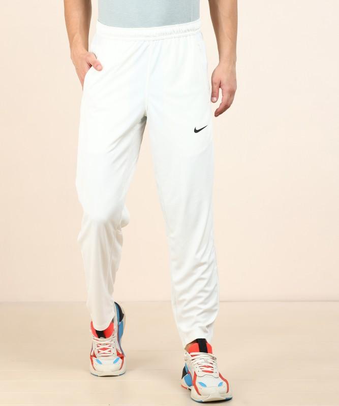 Nike Self Design Men White Track Pants