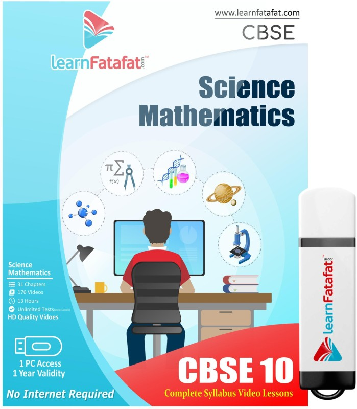 LearnFatafat CBSE Class 10 Maths and Science Video Course(PenDrive)