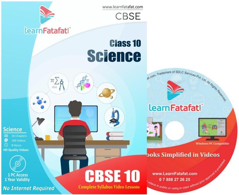 LearnFatafat Science Class 10 CBSE Full Video Course(DVD)