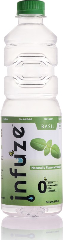 infuze Basil Flavored Water ( Pack of 12 ) - 500ML Flavored(500 ml, Pack of 12)