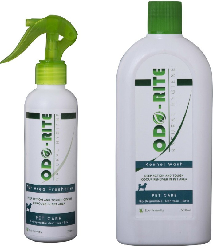Odo-Rite Combo Pack [Kennel Wash/Pet Floor Cleaner -500ml + Pet Area Freshener (Odour Remover)-200ml] Pet Cage Cleaner(700 ml)