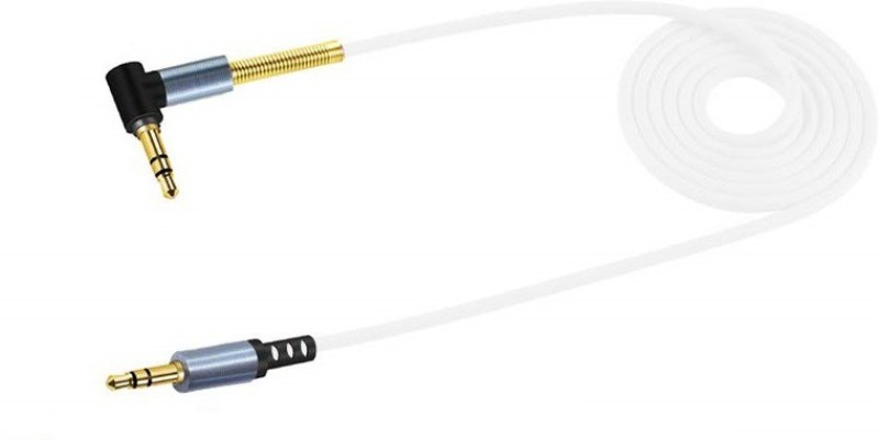 Wonder World ®3.5mm Auxiliary Audio Cable 90 Degree Right Angle AUX Cable(Compatible with Universal, White)