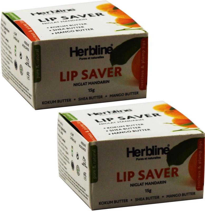 Herbline Lip Saver Plump Lips Pack of 2(Natural)