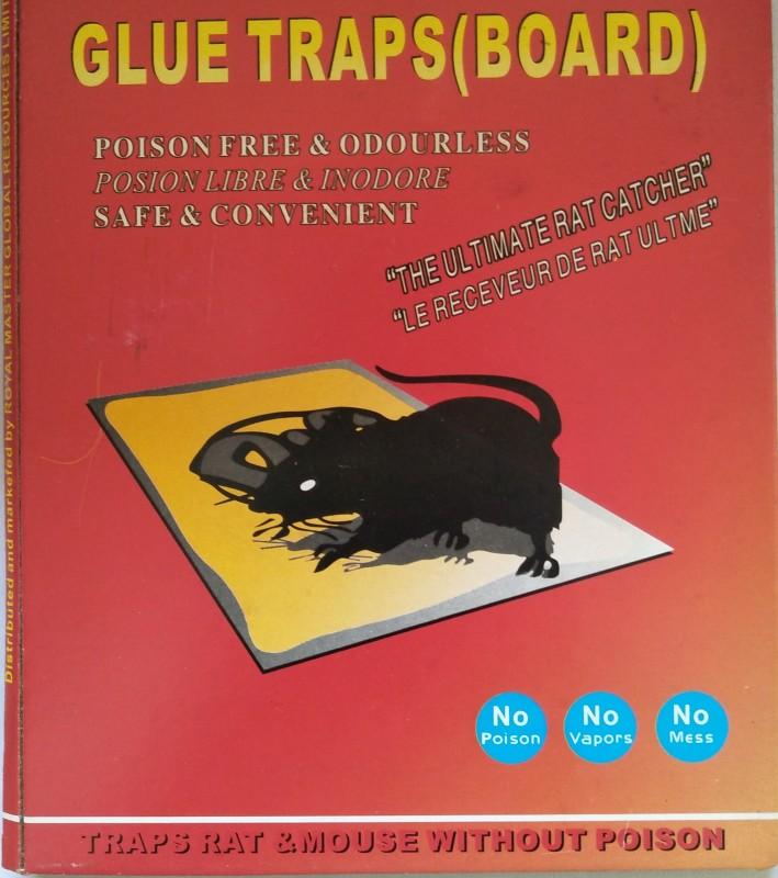 TASHKURST Rat / Mouse Lizard Trap, Rat Catcher Adhesive Green Killer Mouse Glue Board- Non Poisonous - Non Toxic - Odorless - Rat Terminator 1 pc Snap Trap