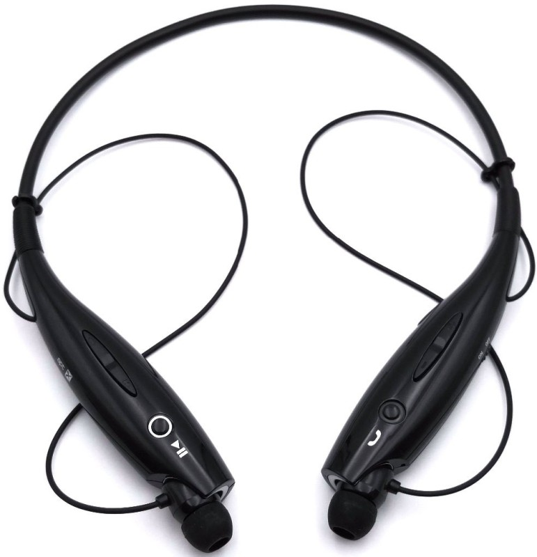 Duende HBS-730 Sports Headphone Wireless BT Earphone for Op_po Vi.vo Bluetooth Headset(Black, In the Ear)