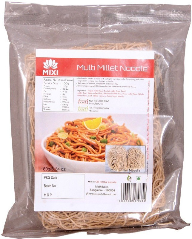 MIXI MULTI MILLET NOODLE Instant Noodles Vegetarian(180 g)