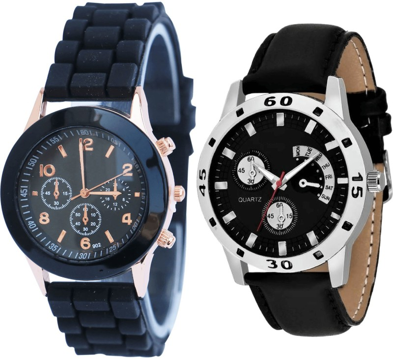 NIKOLA Brand New Party Wedding Analogue Black Color Boys And Men Watch - B65-B58 (Combo Of 2 ) combo watch Analog Watch  - For Men & Women