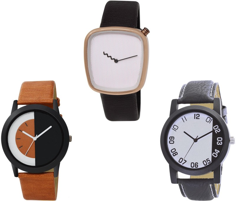 NIKOLA Best Valentine Analogue Black And Brown Color s And Watch - BL46.41-B41-B162 (Combo Of 3 ) combo watch Analog Watch  - For Girls