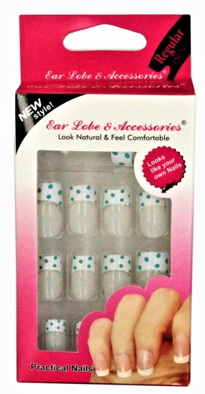 Ear Lobe & Accessories Fancy Designer Full Covrage 12pcs Nails (N0-82) multi(Pack of 12)