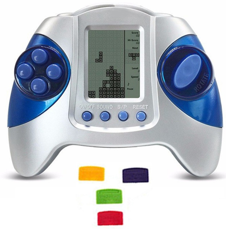 Alafi Best Traditional video game for increasing hand-eye/mind concentration brain with ALL IN ONE WITH 4 CHIP BRICK GAMES q5(Game will not work until inserting chip) NA GB with GAME, BATTERY, 4 CHIP(Multicolor)