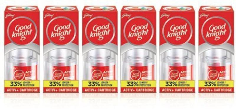 Good Knight Activ+ Liquid Refill Cartridge with 33% Extra 6 refils Jumbo Pack Mosquito Vaporiser Refill