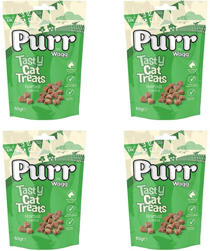 Wagg Purr Tasty Hairball Control Cat Treat(60 g, Pack of 4)