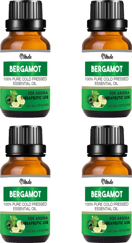 VIHADO Bergamot oil 100% Natural, Organic, Vegan & Cruelty Free Bergamot Essential Oil (15 ml) (Pack of 4)(15 ml)