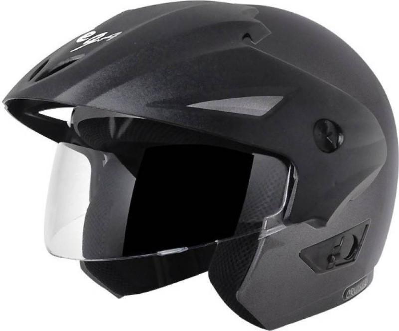 Black A04 Motorbike Helmet(Grey)