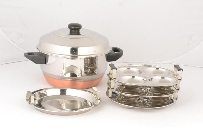 Premium Vegan 12 Idly Induction & Standard Idli Maker(3 Plates , 12 Idlis )