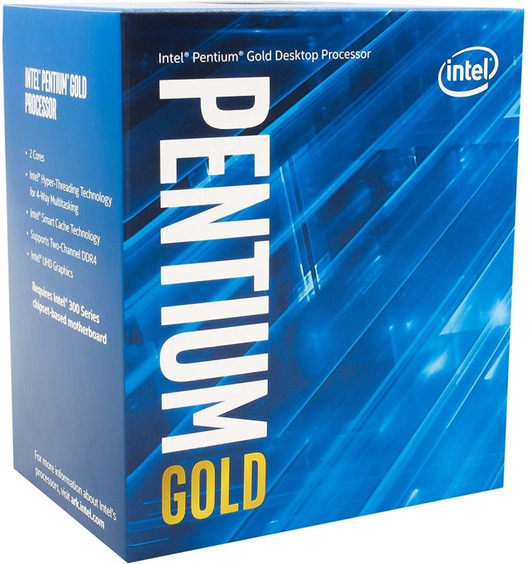 Intel 3.2 GHz LGA 1151 PENTIUM GOLD G5400 DESKTOP PROCESSOR 3.2GHZ Processor(Silver)