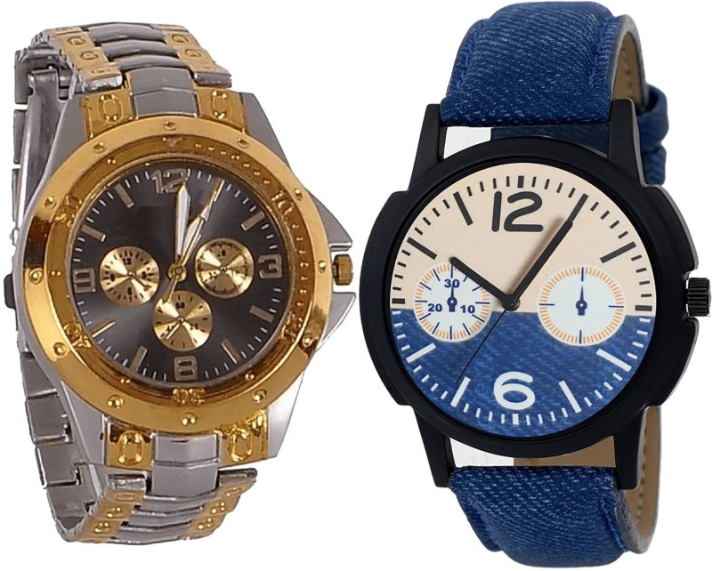 NIKOLA Contemporary Casual Analogue Silver And Blue Color Boys And Men Watch - B76-B10 (Combo Of 2 ) combo watch Analog Watch  - For Girls