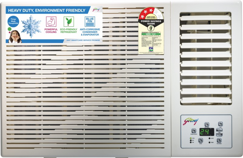 Godrej 1 Ton 3 Star Window AC - White(GWC 12DTC3-WSA, Copper Condenser)