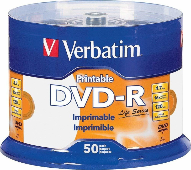 Verbatim DVD Recordable DVD-R 50 Pack Spindle 4.7 GB