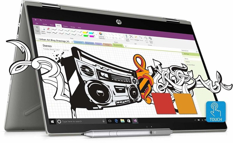 HP Pavilion x360 Core i7 8th Gen - (8 GB + 16 GB Optane/1 TB HDD/Windows 10 Home/4 GB Graphics) 14-cd0055TX 2 in 1 Laptop(14 inch, Mineral Silver, 1.68 kg, With MS Office)
