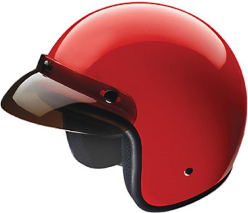 Black H001 Motorbike Helmet(Red)