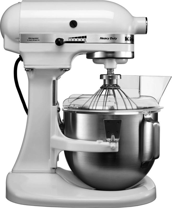 KitchenAid 5KPM5BWH 5 QT BOWL LIFT SM WHITE (B)(Bowl Lift-Stand Mixer) 240 Juicer Mixer Grinder(White, 1 Jar)