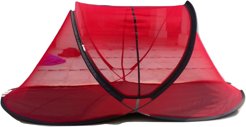AL-MERAJ 99 PERFUMERS Cotton Adults SINGLE BED MOSQUITO NET Mosquito Net(Red, Blue, Black)