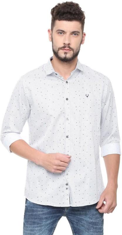 Allen Solly Men Checkered Casual White Shirt