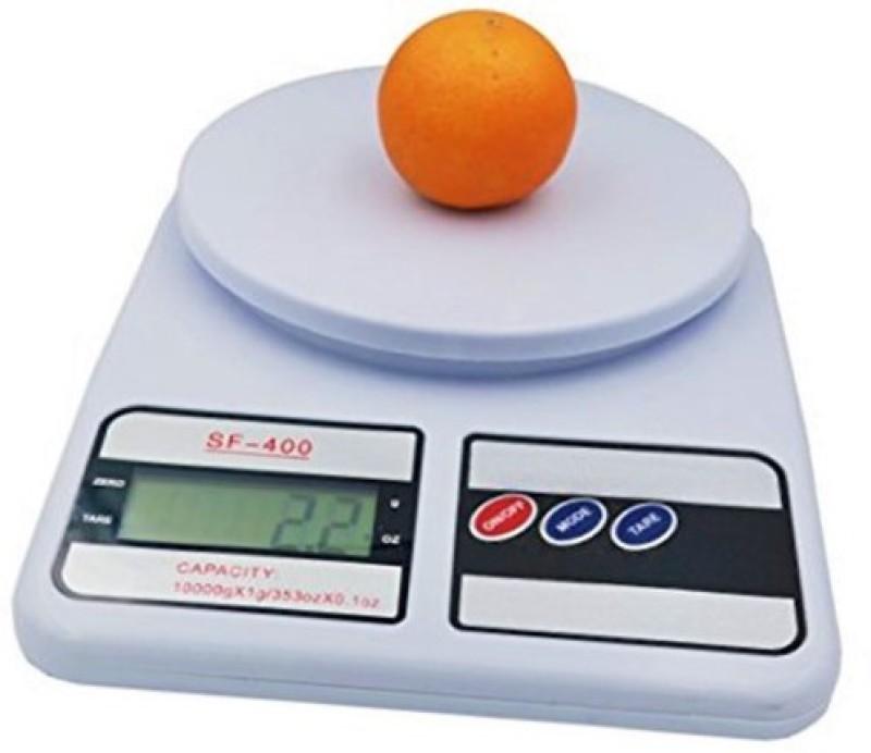ZIORK Digital 10kg x 1g Kitchen Scale Balance Multi-purpose weight measuring machine Weighing Scale(White)