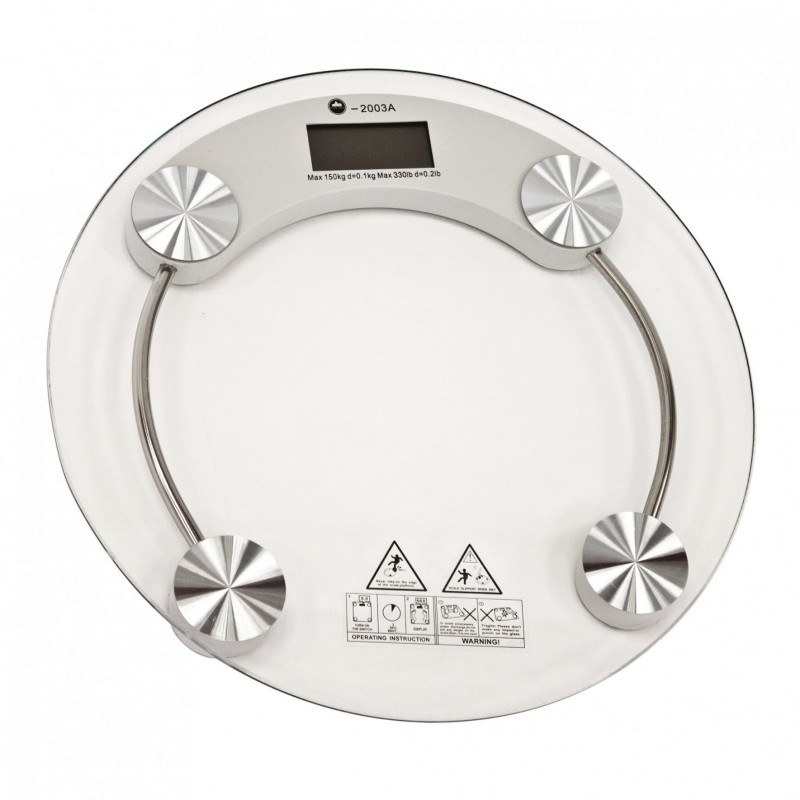 ZIORK Digital 8mm glass Weighing Scale (glass, transparent) Weighing Scale(White)