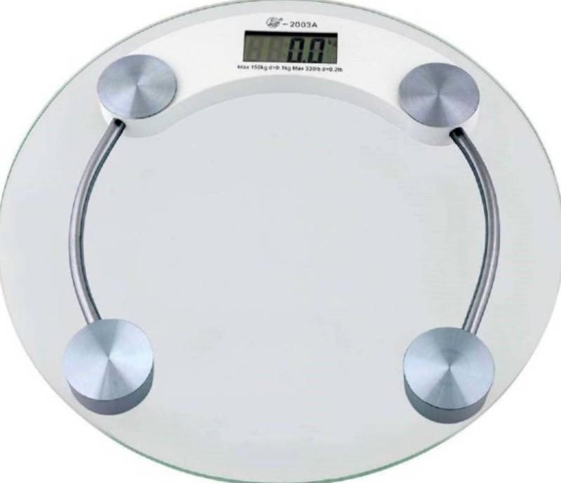 ZIORK Best In Market Body Weight Machine Digital 2003A1 Thick Tempered Glass Weighing Scale(White)