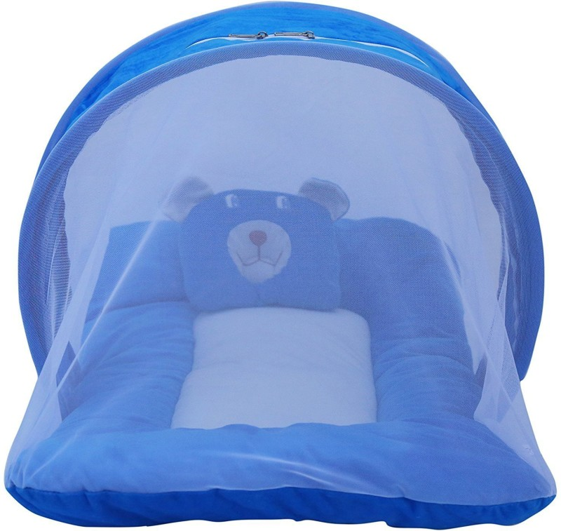 Black Apple Baby Bedding with mosquito net for new born | Baby Bed | Polyster | Foldable mattress | Blue Standard Crib(Fabric, Blue)